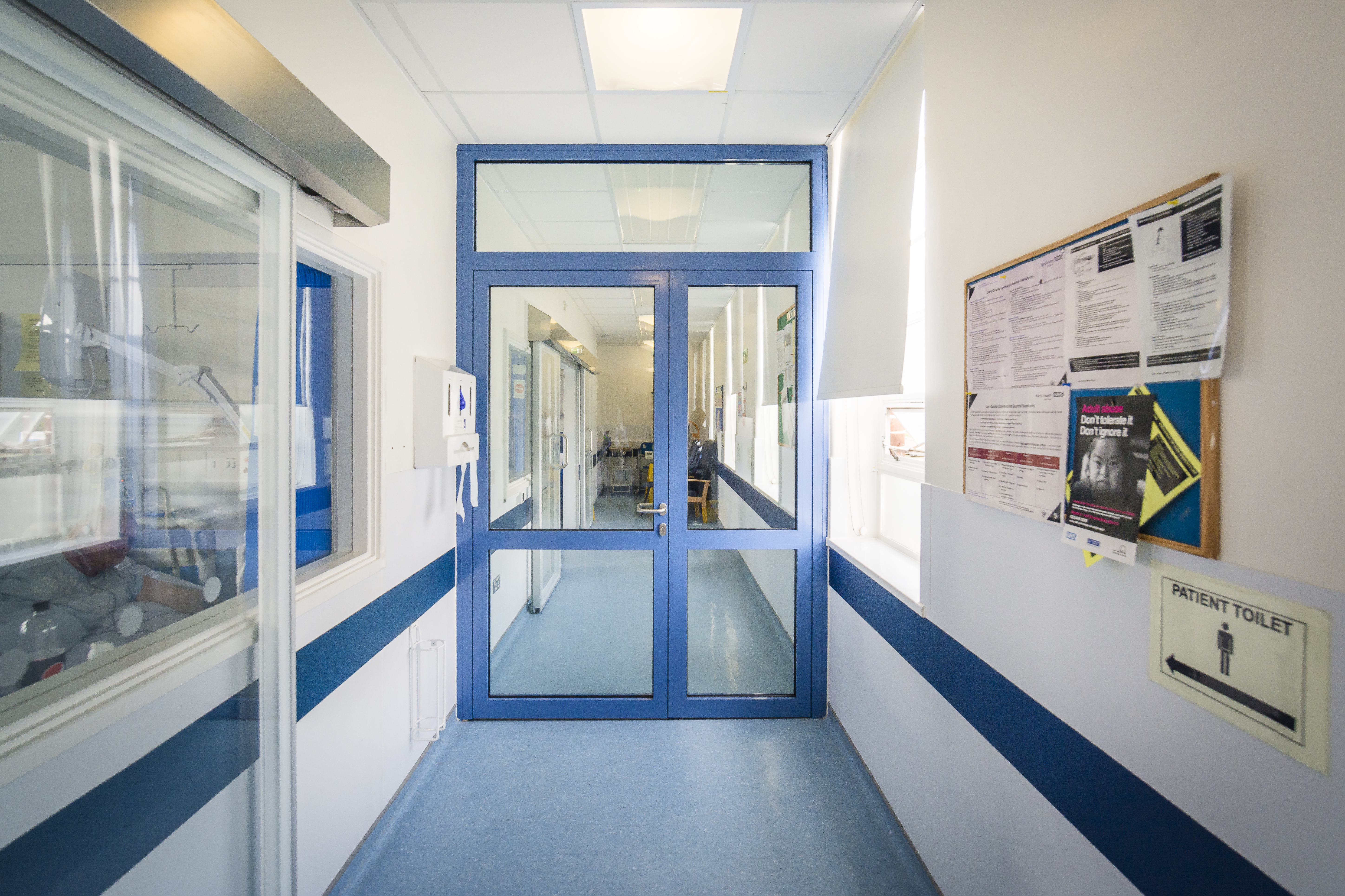 Fire Rated glass walls, doors and partitions in NHS Hospitals and Care Trusts in the UK